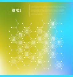 Office concept in honeycombs vector