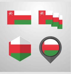 oman flag design set vector image