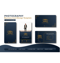 Photography luxury business card design vector