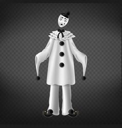 pierrot italian comedian sad romantic character vector image