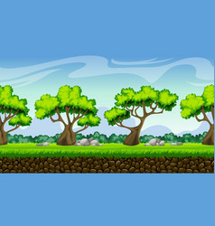 Seamless nature cartoon background with separate vector