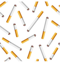 Seamless pattern with cigarette butts on vector