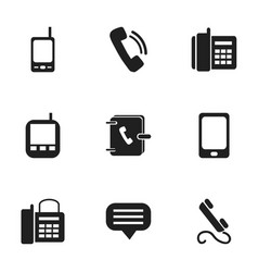 Set of 9 editable device icons includes symbols vector