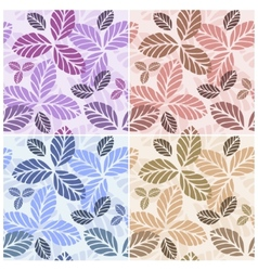 Set of floral seamless patters vector