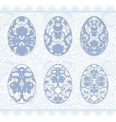 Set of gentle lacy eggs vector