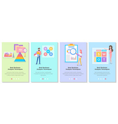 set on topic people vector image