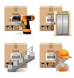 Shipment Icons Set 30 vector