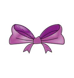 Smooth ribbon beam bow decoration image vector