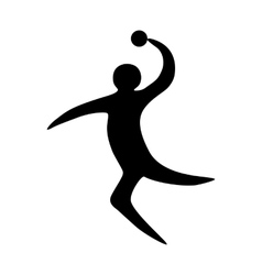 Sportsman man handball player vector image