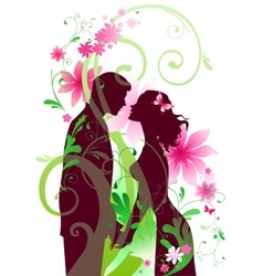 Spring feeling vector image
