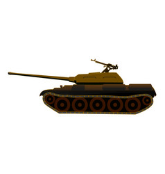 Tank t-34 in deserted disguise vector