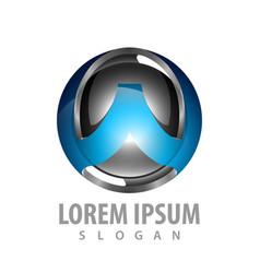 technology w letter logo concept design symbol vector image