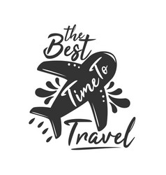 the best time to travel vector image
