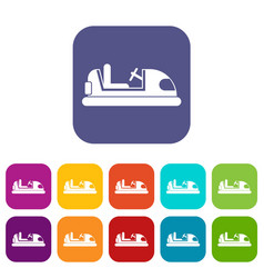toy car icons set vector image