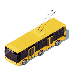 Trolleybus isometric color city public transport vector