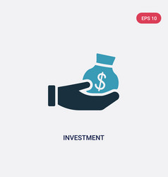 two color investment icon from strategy concept vector image
