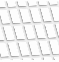 White empty rectangles vertical orientation app vector