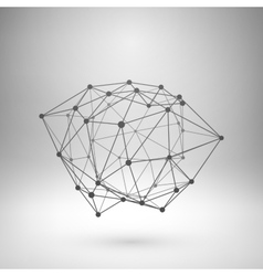 Wireframe mesh polygonal abstract form vector image