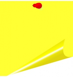 Yellow memo stick vector