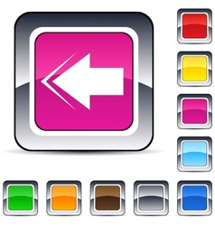 back arrow square button vector image