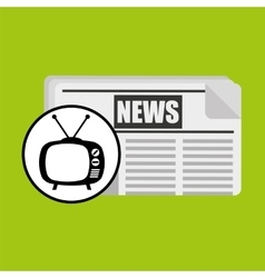 Concept news tv retro icon graphic vector