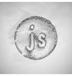 js icon vector image vector image