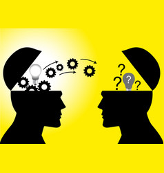 knowledge or ideas transfer vector image