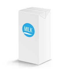 milk package mock up realistic vector image