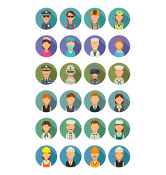 set icon different professions character cook vector image vector image