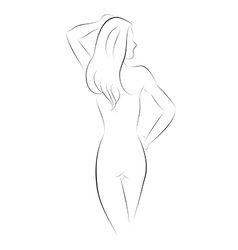 Sexy Girl Pose Back vector image