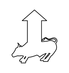 bull economy symbol isolated icon vector image vector image