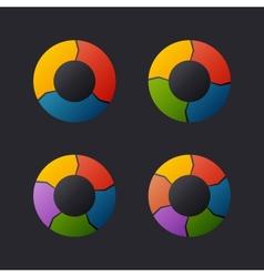 Circular chart template set vector