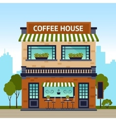 Coffee House Building vector image