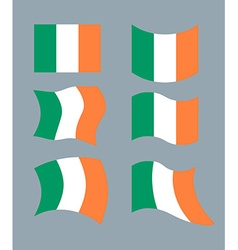 Flag of Ireland Set flag of Irish State Developing vector image vector image