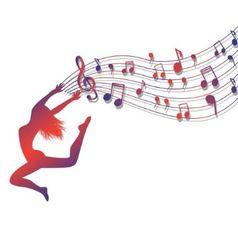 musical ecstasy vector image vector image