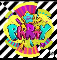 bright party vector image vector image