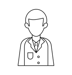 character doctor uniform health outline vector image vector image