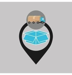 delivery truck concept box carton icon vector image