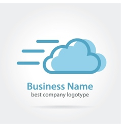 fast cloud icon logotype vector image vector image