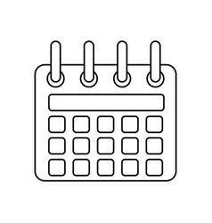 line calendar symbol icon design vector image