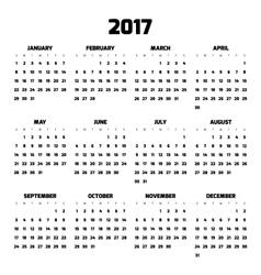 Modern style calendar for 2017 vector image