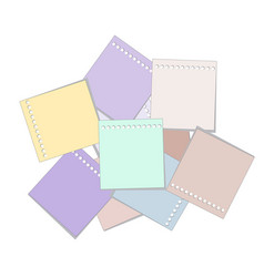 note paper set vector image