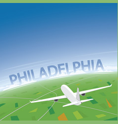 philadelphia flight destination vector image vector image