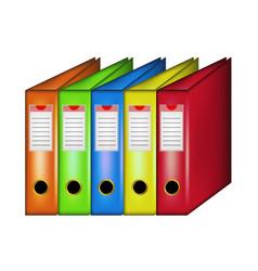 row of office folders vector image
