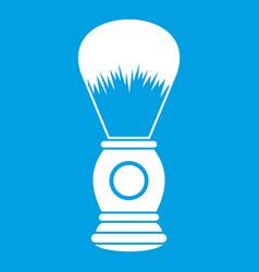 shaving brush icon white vector image vector image