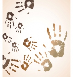 vector handprint color background vector image vector image
