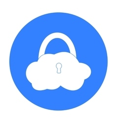 Data cloud security icon in outline style isolated vector image vector image