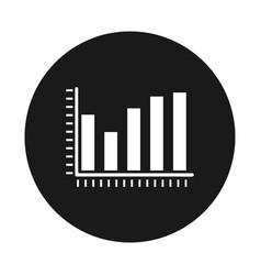 diagram icon statistic vector image
