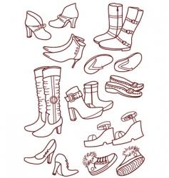 female footwear vector image