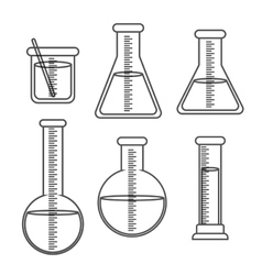 Graphic design of Chemical Laboratory vector image